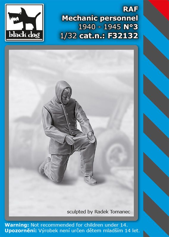 F32132 1/32 RAF mechanics personnel 1940-45 N°3 Blackdog