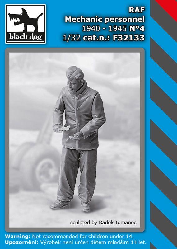 F32133 1/32 RAF mechanics personnel 1940-45 N°4 Blackdog