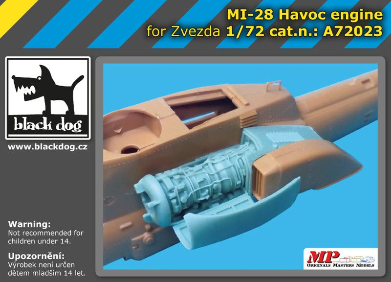 A72023 1/72 Mi 28 Havoc engine Blackdog