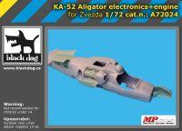 A72024 1/72 Ka-52 Aligator electronic+engine Blackdog
