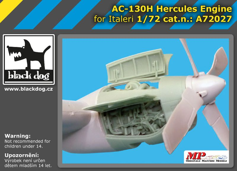A72027 1/72 AC-130 H Hercules engine Blackdog