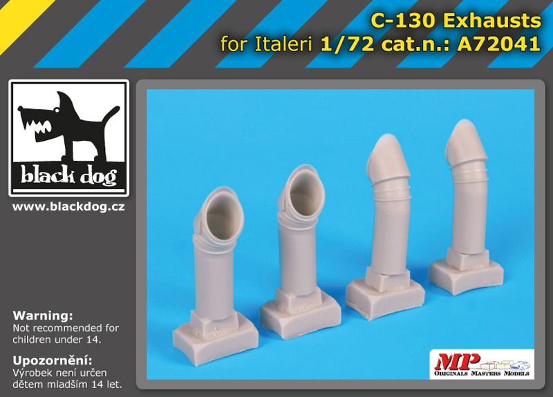 A72041 1/72 C-130 exhausts Blackdog