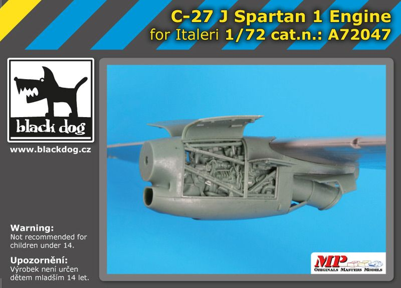 A72047 1/72 C-27 J Spartan 1 engine Blackdog