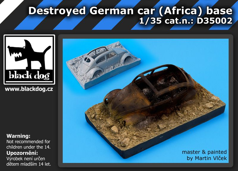 D35002 1/35 Destroyed german car Afrika base Blackdog
