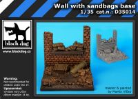 D35014 1/35 Wall with sand bags base