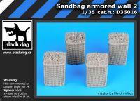 D35016 1/35 Sandbag armored wall 2