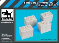 D35017 1/35 Sandbag armored wall 3 Blackdog