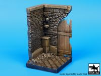 D35023 1/35 Corner with wooden gate (50x50 mm) Blackdog