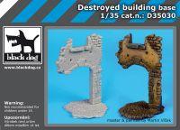 d3503D35030 1/35 Destroyed building base Blackdog