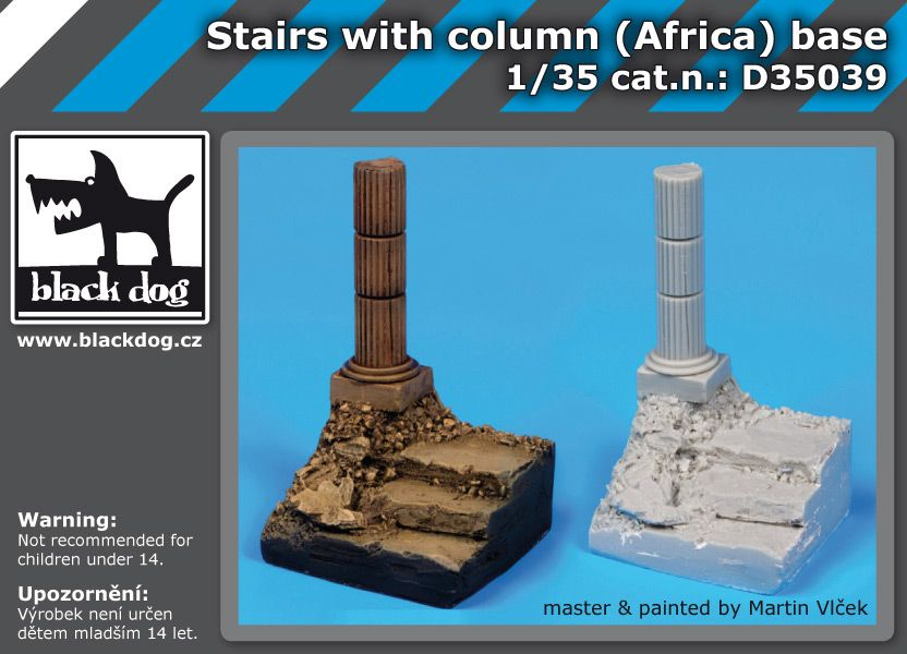 D35039 1/35 Stairs with column base Blackdog