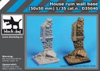 D35040 1/35 Hause ruin wall base