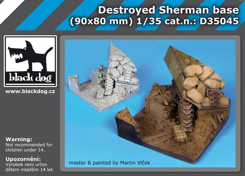 D35045 1/35 Destroyed Sherman base Blackdog