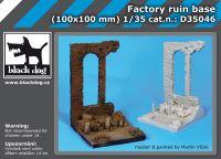 D35046 1/35 Factory ruin base