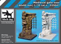 D35047 1/35 Medieval gate base