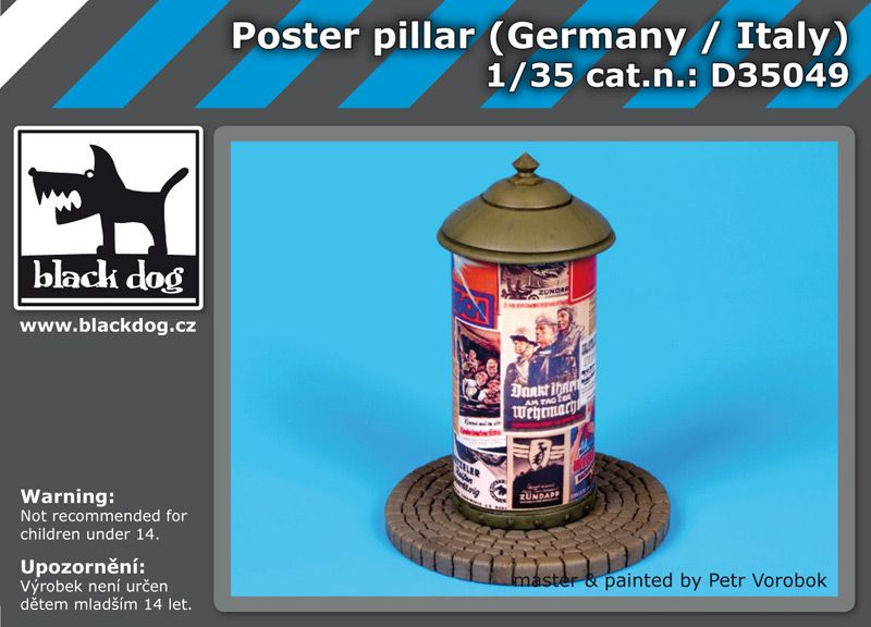 D35049 1/35 Poster pillar Germany-Italy Blackdog