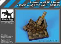 D35055 1/35 Ruined wall N
