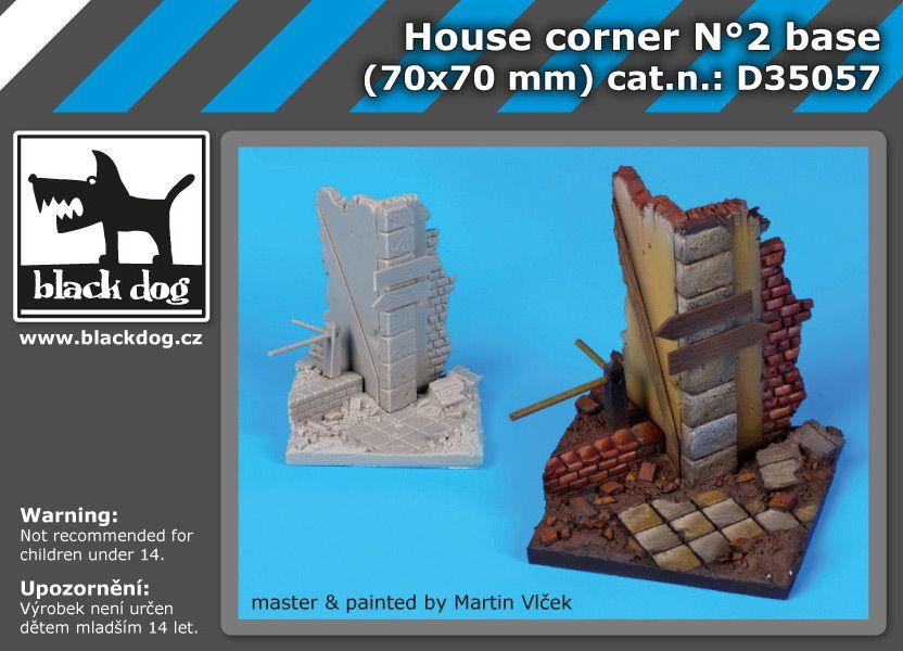 D35057 1/35 House corner base N Blackdog
