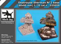D35059 1/35 Destroyed Sherman N