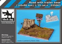 D35063 1/35 Road with trailer base