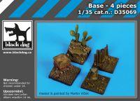 D35069 1/35 Base 4 pieces Blackdog