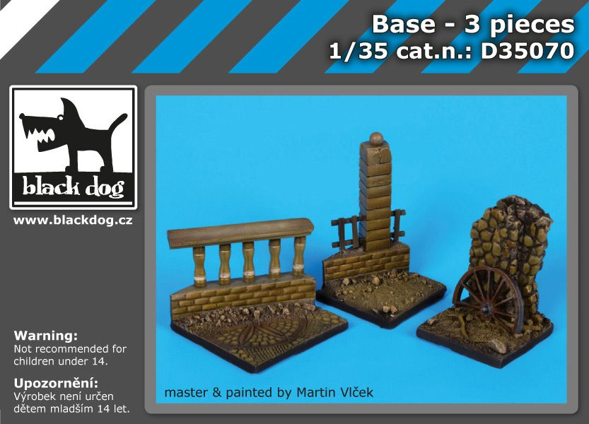 D35070 1/35 Base 3 pieces Blackdog