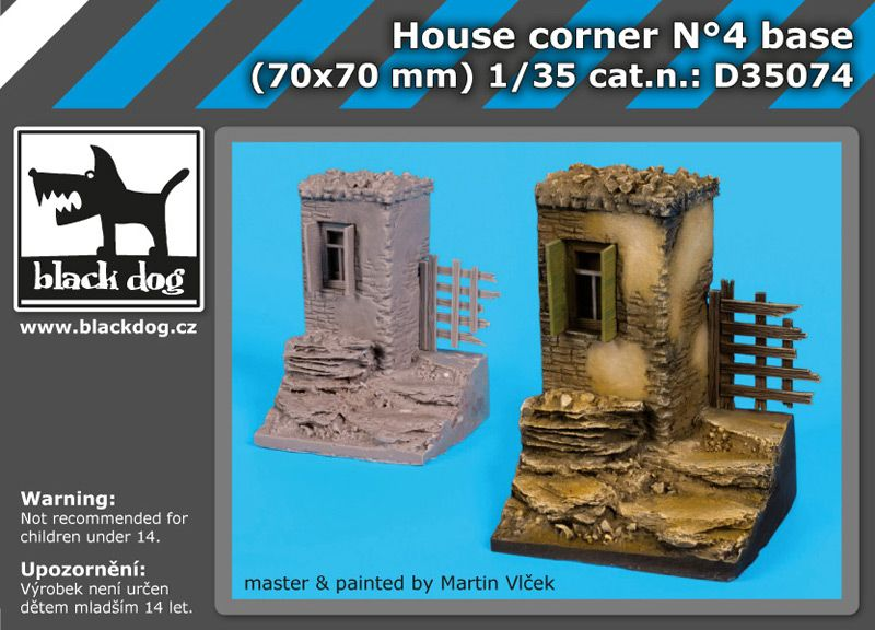 D35074 1/35 House corner N Blackdog