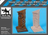 D35081 1/35 House corner(Europe WW II)base