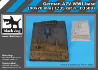 D35097 1/35 German A7V WW I base