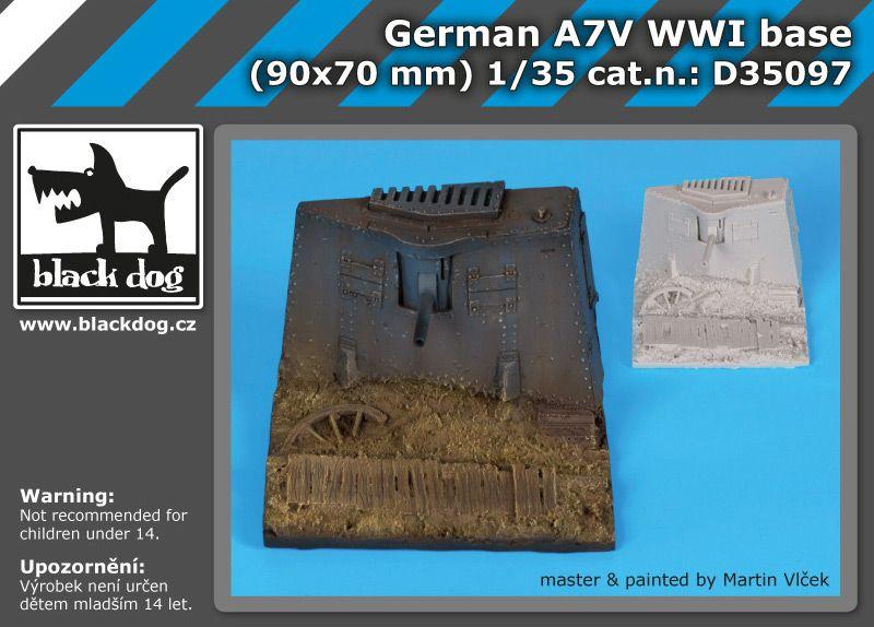 D35097 1/35 German A7V WW I base Blackdog