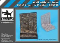 D35098 1/35 Wall with rail base