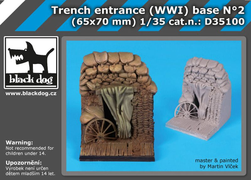 D35100 1/35 Trench entrance WW I base Blackdog