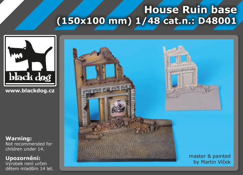 D48001 1/48 House ruin base Blackdog