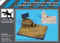 D72013 1/72 Africa road with sign base