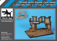 D72014 1/72 Street with house ruin base