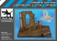 D72016 1/72 Cathedral ruin base