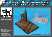 D72018 1/72 Ruined house with railway crossing base