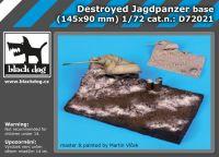 D72021 1/72 Destroyed Jagdpanzer base