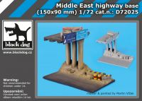 D72025 1/72 Middle east highway base