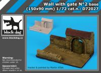 D72027 1/72 Wall with gate N Blackdog