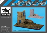 D72029 1/72 Ruined house italy base