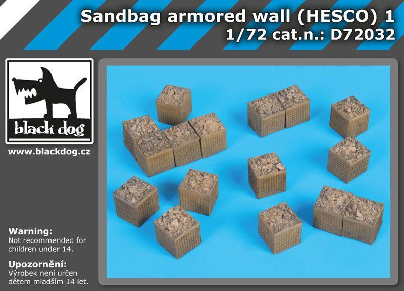 D72032 1/72 Sandbag armored wall (HESCO) 1 Blackdog