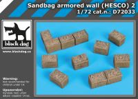 D72033 1/72 Sandbag armored wall (HESCO) 2