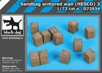 D72034 1/72 Sandbag armored wall (HESCO) 3