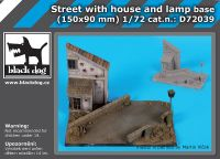 D72039 1/72 Street with house and lamp base Blackdog