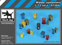 D72041 1/72 Sorted waste containers Blackdog