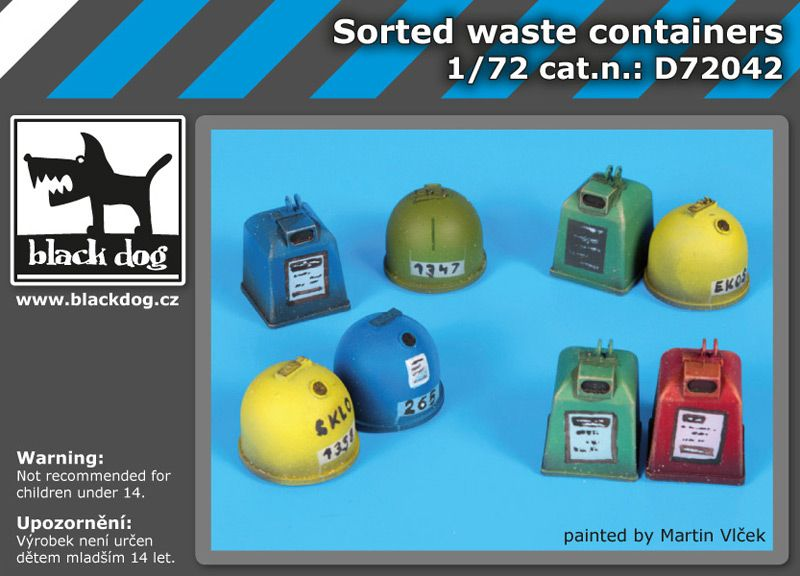 D72042 1/72 Waste containers Blackdog