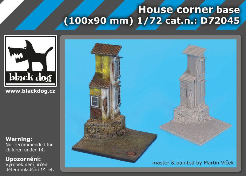 D72045 172 House corner base Blackdog