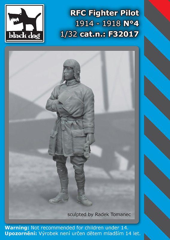 F32017 1/32 RFC Fighter pilot N°4 Blackdog