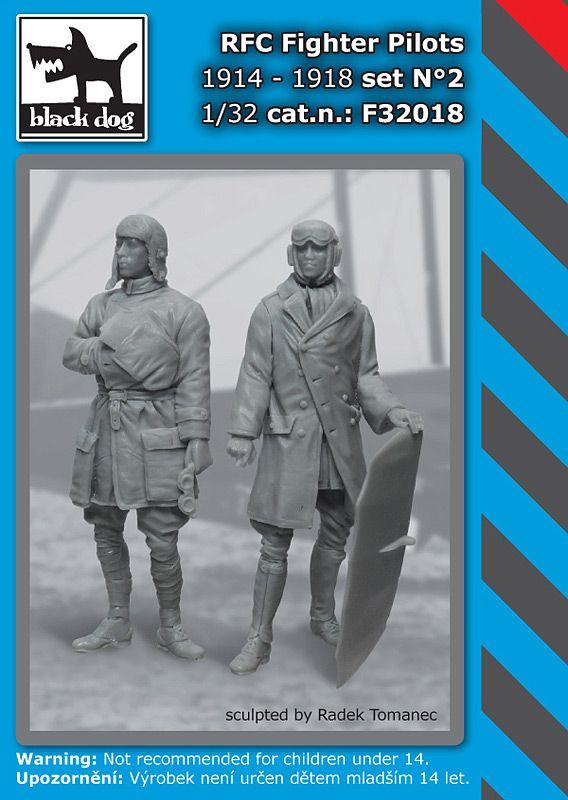 F32018 1/32 RFC Fighter pilots N°2 Blackdog