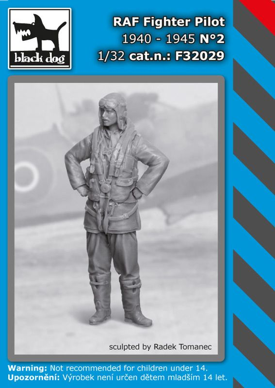 F32029 1/32 RAF fighter pilot 1940-1945 N°2 Blackdog